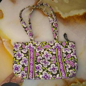 🐙Purple and green floral Vera Bradley purse